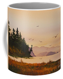 Coffee Mug featuring the painting Autumn Shore by James Williamson