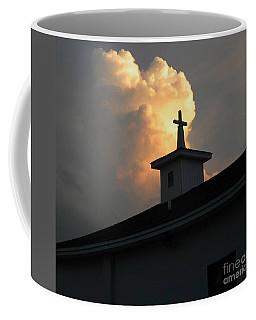 Reaching Baby Angel At The Cross Coffee Mug
