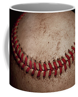 Coffee Mug featuring the photograph Baseball Seams by David Patterson