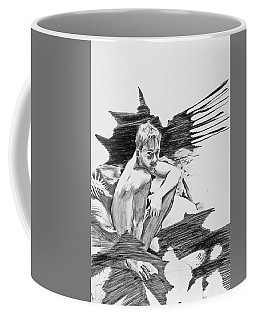 Coffee Mug featuring the painting Bathed In White Light by Rene Capone