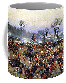 Coffee Mug featuring the painting Battle Of Fredericksburg - To License For Professional Use Visit Granger.com by Granger