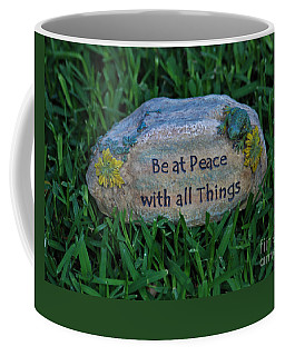 Coffee Mug featuring the photograph 1- Be At Peace by Joseph Keane