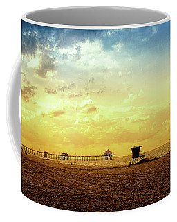Beach Pier Coffee Mug by Joseph Hollingsworth