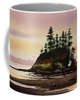 Coffee Mug featuring the painting Beautiful Shore by James Williamson