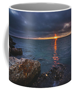 Coffee Mug featuring the photograph Beautiful Sunset At Marina Del Rey by Andy Konieczny