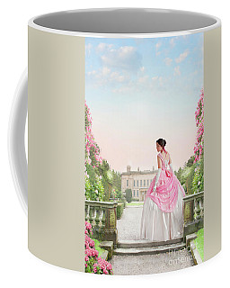 Beautiful Victorian Woman In The Garden Coffee Mug