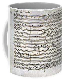 Coffee Mug featuring the photograph Beethoven Manuscript by Granger