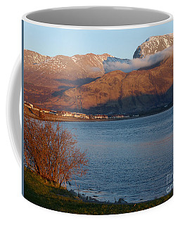 Coffee Mug featuring the photograph Ben Nevis From Corpach by Phil Banks