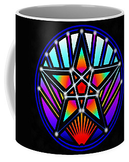 Coffee Mug featuring the digital art Bending Time by Derek Gedney