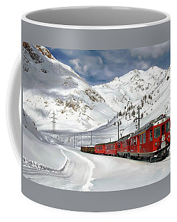 Bernina Winter Express Coffee Mug