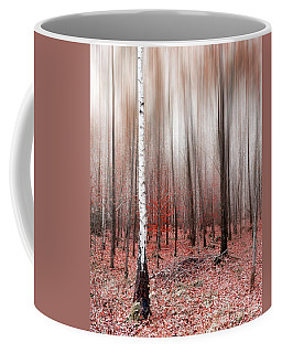 Coffee Mug featuring the photograph Birchforest In Fall by Hannes Cmarits