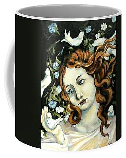 Bird Lady Coffee Mug by Carrie Joy Byrnes