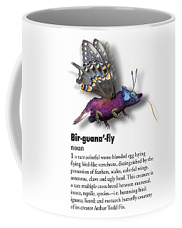 Coffee Mug featuring the digital art Birguanafly by Arthur Fix