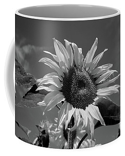 Coffee Mug featuring the photograph Black And White Sunflower by Michelle Meenawong