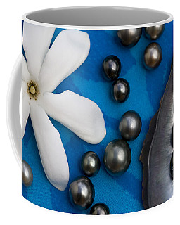 Black Pearls And Tiare Flower Coffee Mug
