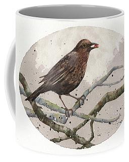 Blackbird Painting Coffee Mug