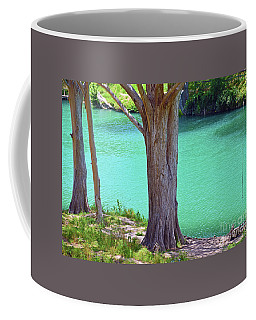 Blanco River Texas Coffee Mug by Ray Shrewsberry