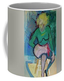 Blonde In Green Shirt Coffee Mug