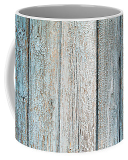 Blue Fading Paint On Wood Coffee Mug by John Williams