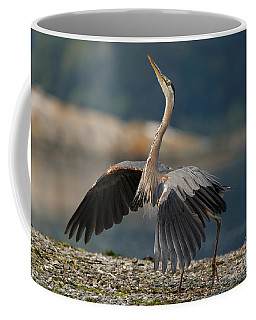 Blue Heron Dance Coffee Mug