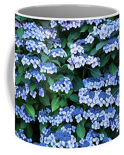 Coffee Mug featuring the photograph Miksang 12 Blue Hydrangea by Theresa Tahara
