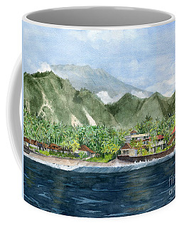 Coffee Mug featuring the painting Blue Lagoon Bali Indonesia by Melly Terpening