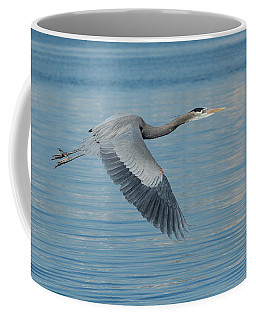 Blue On Blue Coffee Mug by Fraida Gutovich