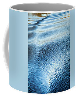 Coffee Mug featuring the photograph Blue On Blue by Karen Wiles