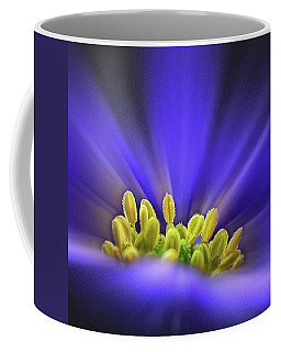 blue Shades - An Anemone Blanda Coffee Mug