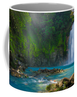 Coffee Mug featuring the photograph Blue Waterfall by Rikk Flohr