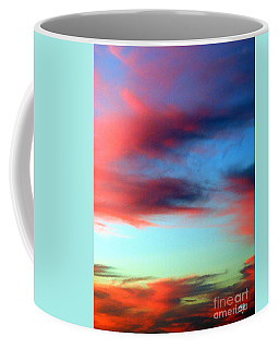 Coffee Mug featuring the photograph Blushed Sky by Linda Hollis