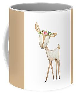 Boho Woodland Baby Nursery Deer Floral Watercolor Coffee Mug