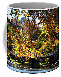 Coffee Mug featuring the photograph Boston Public Garden - Lagoon Bridge by Joann Vitali