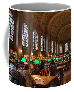 Coffee Mug featuring the photograph Boston Public Library by Joann Vitali