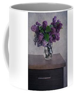 Coffee Mug featuring the photograph Bouquet Of Fresh Lilacs by Jaroslaw Blaminsky