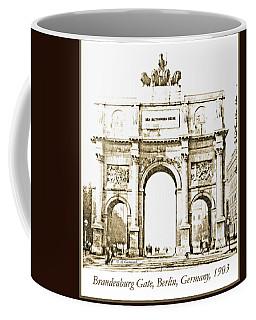 Brandenburg Gate, Berlin Germany, 1903, Vintage Image Coffee Mug