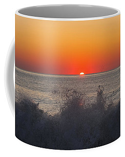 Breaking Wave At Sunrise Coffee Mug by Allan Levin