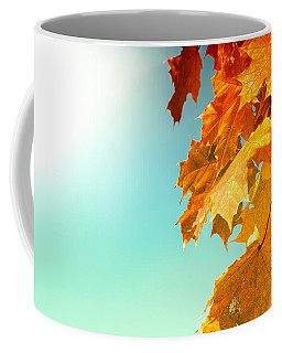 Yellow Autumn White Sun Coffee Mug