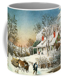Bringing Home The Logs Coffee Mug