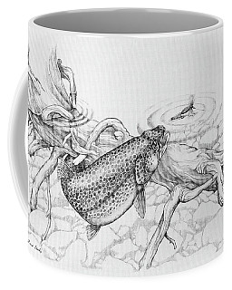 Brown Trout Pencil Study Coffee Mug