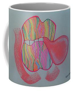 Coffee Mug featuring the painting Bubblegum by Gloria Ssali
