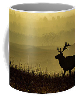 Coffee Mug featuring the photograph Bull Elk by Jay Stockhaus