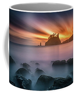 Coffee Mug featuring the photograph Burning Sky by William Lee
