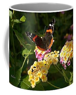 Coffee Mug featuring the photograph Busy Butterfly Side 2 by Felipe Adan Lerma