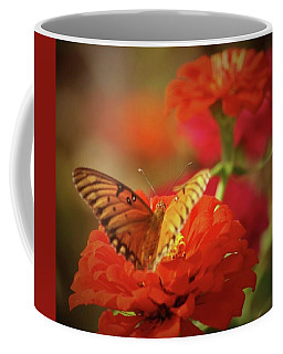 Butterfly And Flower II Coffee Mug by Donna G Smith