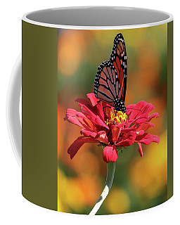 Butterfly On Zinnia Coffee Mug