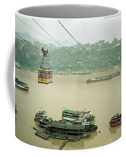 Cable Car Over Yangzi River In Chongqing China Coffee Mug