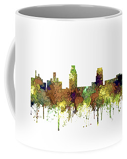 Camden New Jersey Skyline Coffee Mug by Marlene Watson