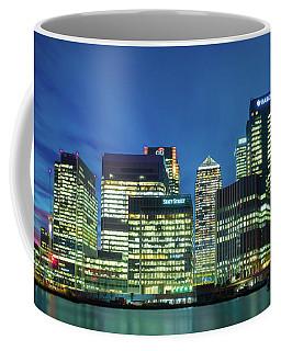 Coffee Mug featuring the photograph Canary Wharf by Stewart Marsden