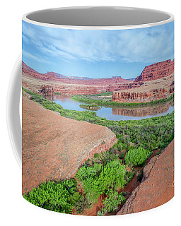 Canyon Of Colorado River In Utah Aerial View Coffee Mug